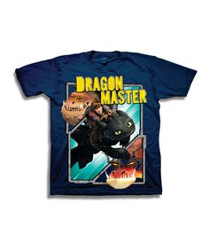 Another great find on #zulily! Navy 'Dragon Master' Tee - Boys #zulilyfinds