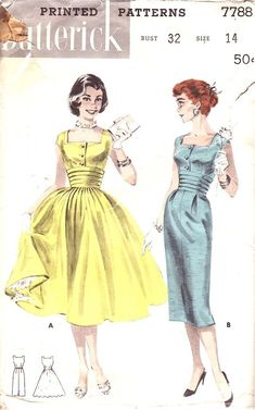 Love the neckline and waist details here. Like both skirt choices as well.
