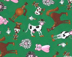 The Farm at Wistlepig Creek - Hee Haw - Holly Green - FLANNEL