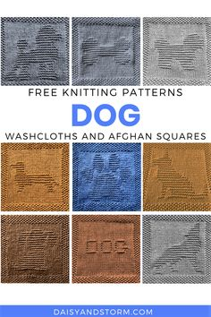 Knitted Squares Pattern, Knitted Dishcloth Patterns Free, Knitting Squares, Knitted Washcloths, Knit Dishcloth, Loom Knitting, Free Knitting, Crochet Patterns, Afghan Patterns