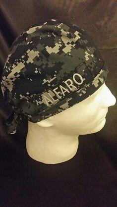 f5ac0a6de51 US Navy NWU Blue Camo Tie Back Surgical Scrub Hat