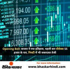 #OpeningBell: बाजार ने रचा इतिहास, पहली बार सेंसेक्स 55 हजार के पार, निफ्टी में भी जबरदस्त तेजी आगे पढ़े..... #ShareMarket #TodayShareMarket #ShareMarketinIndia #IndiaShareMarket #ShareMarketIndia #BSE #Sensex Cricket News, Lifestyle News, Bollywood News, Business News, New Technology, First Time, Politics, Future Tech