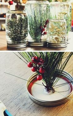 Mason Jar Snowglobes | 62 Impossibly Adorable Ways To Decorate This Christmas