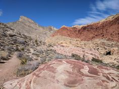 View towards Turtlehead Peak from the Kraft Mountain LoopTrail, Red Rock Canyon NCA, Nevada