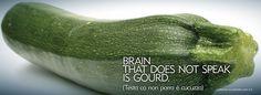 Brain that does not speak is gourd.