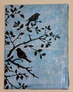 CandleWorks Scraps: My Crafts..stenciiing in black...pretty wall art