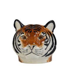 Tiger Face Egg Cup, Quail Novelty Egg Cups, Tiger Face, Tiger Head, Tiger Tiger, Egg Holder, Egg Art, China Porcelain, Painted Porcelain, Hand Painted