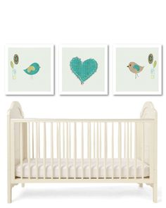 Birds nursery artchildren's art birds by PinkMilkshakeDesigns, £19.95