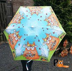 Blue sky orange cat daisies UMBRELLA - Daisy Day - Limited Edition