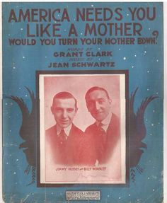 American Needs You Like a Mother, Would You Let Your Mother Down?, Vintage Sheet Music, WWI Patriotic Song, Grant Clark and Jean Schwartz by BettywasaBombshell on Etsy