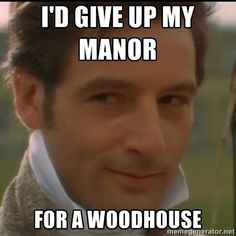 Jane Austen humor. :D @Angela D (not our favorite Knightly, but still amusing)