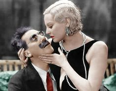 Thelma Todd seduces Groucho Marx in Horse Feathers (1932).