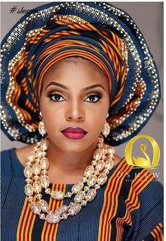 Beautiful Aso Ebi Make-up ~African fashion, Ankara,, Ghanaian fashion, African wedding ~DKK African Dresses For Women, African Print Dresses, African Attire, African Wear, African Women, African Prints, African Style, Kitenge, African Head Wraps