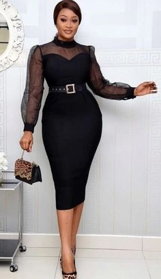 African Wear Dresses, Latest African Fashion Dresses, African Attire, Women's Fashion Dresses, Elegant Dresses Classy, Classy Dress, Classy Work Outfits, Professional Attire, Chic Dress