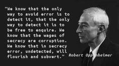 Robert Oppenheimer - Error