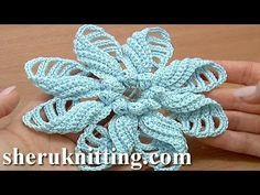 Crochet Folded Petal Flower Tutorial 57 Part 1 of 2 Fiori all'Uncinetto con bottoni usati - YouTube