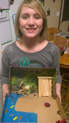 Hatchet Diorama Book Projects, Science Projects, School Projects, Projects For Kids, Project Ideas, School Ideas, Crafts For Kids, Hatchet Activities, Hatchet Book