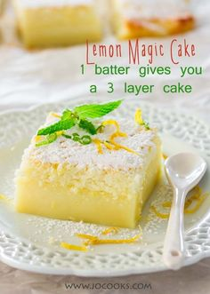 Lemon Magic Cake - one simple batter that turns into a 3 layer cake. Simply…