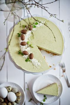 Matcha Coconut Cheesecake #japaneasy #matcha #healthylife