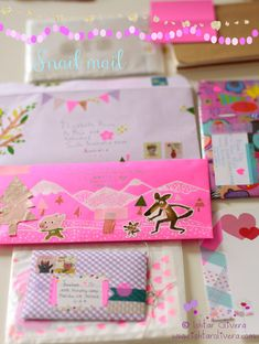 Fun envelopes with washi tape, stickers and more for mailing letters.