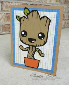 I Am Groot Birthday Card! Make this DIY card for any Guardians of the Galaxy fan in your life.