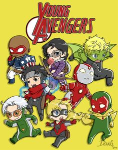 Young Avenger chibies