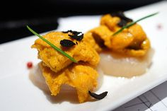 Scallop, Sea Urchin, Black Truffle - Ikko Sushi (FAVORITE)