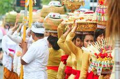 Procession of the festival in Bali.