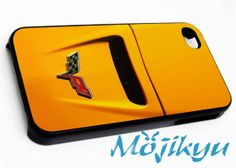 Yellow Cap Chevrolet Corvette Case For Your iPhone 4/4s, iPhone 5/5s, iPhone 5c, Galaxy S3, Galaxy S4, Galaxy S5, Custom