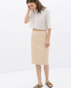 FAUX LEATHER TUBE SKIRT from Zara $59.90