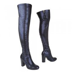 Купи LIFE & STYLE JU1027 2 Lips Too - navy Heeled Boots, Lips, Bronze, Navy, Lifestyle, Heels, Fashion, High Heel Boots, Heel