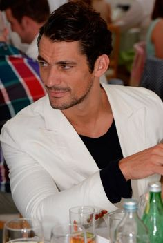 David Gandy attends the Boujis tent at the Audi International Polo day at Guards Polo Club on July 28, 2013 in Egham, England.