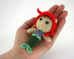How freaking cute is this! Crocheted little mermaid doll