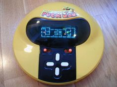 Classic portable Pacman game.  I still have this.
