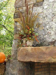 Spring Flower Arrangements, Silk Arrangements, Flower Centerpieces, Fall Wedding Flowers, Spring Flowers, Outdoor Stone Fireplaces, Order Flowers Online, Silk Plants, Flower Delivery