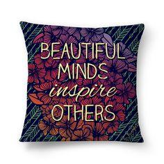 Almofada Beautiful Minds de @jurumple | Colab55
