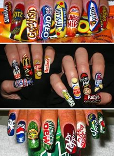 I love getting my nails done but wow these are just to long.. If they could be done on shorter nails I would get them :)