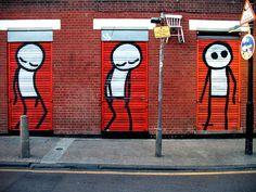 UK street art - day 1 - London - Stik Men