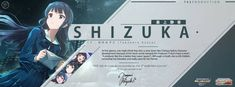 Shizuka Mogami Cover Design by priatnaadnyana on DeviantArt Aesthetic Themes, Aesthetic Anime, Game App, Gaming Banner, Game Interface, App Design, Aesthetic Backgrounds, Graphic Design Posters, Web Banner