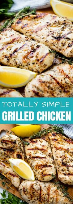 This Simple Grilled Chicken Recipe has a lemon, garlic, and herb marinade that makes for the absolute best grilled chicken. You'll make this recipe again and again! #thestayathomechef #grilledchicken
