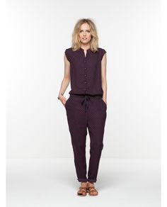 Zijdezachte jumpsuit met print | All-in-1 | Dameskleding bij Scotch & Soda