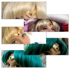 Make your own Sailor Moon tiara. This is a REALLY nice tutorial. I will definitely be using this one.