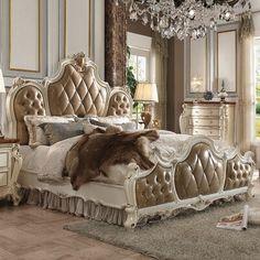 King Bedroom Sets, Queen Bedroom, King Bedding Sets, Cozy Bedroom, Bedroom Ideas, Fancy Bedroom, Royal Bedroom, Bedroom Brown, Bedroom Decor