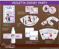 Violetta Disney festa stampabile di Tempodifesta su Etsy, €8.50