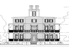 Ocotgon House in WI, Front Elevation