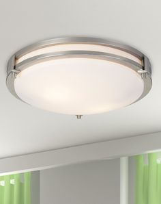 This Contemporary Ceiling Light Is Clean And Simple Great For A Living Room Or Hallway Menards Main Lighting Fans Indoor Lights