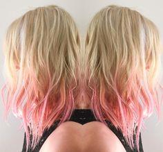 Pink accents done right. Hair by milk + honey stylist, Richard. #milkhoneyhair