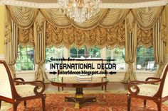 Top trends living room curtain styles, traditional French curtain design and shades for living room window