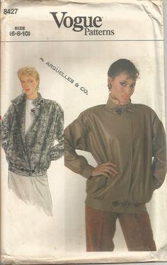 Vintage Vogue Jacket Tissue Pattern 8427 Size 6-10 or 12-16  bust 30-38 circa…