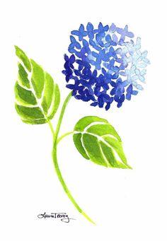 Cobalt Blue Hydrangea Print by lauratrevey on Etsy, $20.00